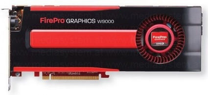 AMD FirePro W9000 6GB GDDR5 6x Mini DisplayPort, bulk